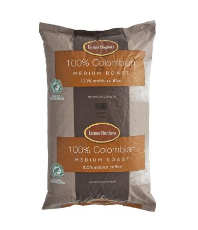100% Colombian Whole Bean - 5 lb. Bags